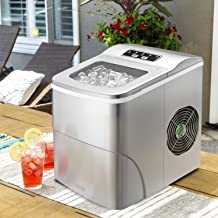 Tavata Countertop Portable Ice Maker Machine, 9 Ice Cubes Ready in 8 Minutes,Makes 26 lbs of Ice per 24 hours,with LED Display, Ice Scoop and Basket Perfect for Parties Mixed Drinks