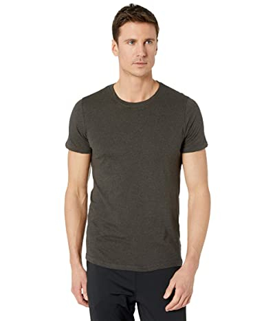 PACT Organic Cotton Featherweight Crew Neck Tee (Charcoal Heather) Men