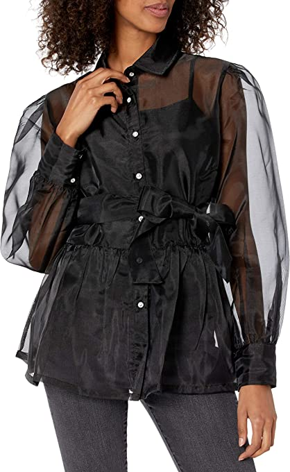 The Drop Women's @shopdandy Organza Shirt with Stretch Cami