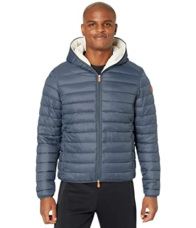 Save the Duck Giga 9 Hoodie Puffer Jacket with Sherpa Lining (Blue) Men