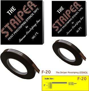 The Striper Paint Pinstriping Stencil Tape - Pinstripe Your Car/Truck   Striper: F-20   Results: 1/16