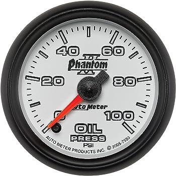 Auto Meter 1253 American Muscle 2-1//16 Oil Pressure Gauge