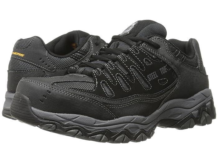 Skechers black steel toe safety shoe