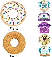 Silli Chews Vanilla Donut (Doughnut) Teether Favorite Happy Baby Teething Toy Food Grade Silicone Holiday Gift Idea