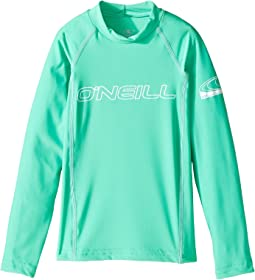 O'Neill Kids Basic Skins Long Sleeve Crew (Little Kids/Big Kids)