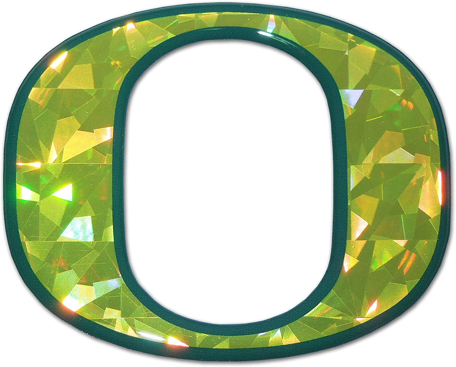 Oregon Ducks color NCAA Reflective 3D Decal Domed Auto Sticker Emblem