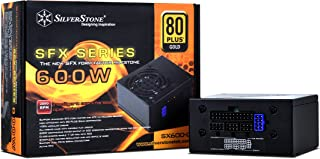 SilverStone Technology 600W SFX Form Factor 80 PLUS GOLD Full Modular Power Supply with +12V single rail, Active PFC (SX600-G)