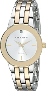 Anne Klein Women's Diamond-Accented Dial Bracelet Watch