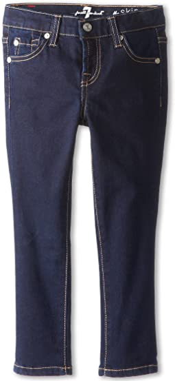 7 For All Mankind Kids - Skinny Jean in Rinsed Indigo (Little Kids)