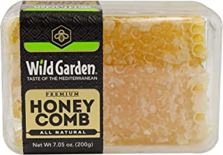 Wild Garden 100% Pure Raw Gourmet Honeycomb, 100% All-Natural, No Additives, No Preservatives, Fresh From The Farm! 7.05 oz Pack of 1