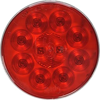 "Grote 53552 SuperNova 4"" 10-Diode Pattern LED Stop Tail Turn Lights (Hard Shell Connecter, Grommet Mount)"