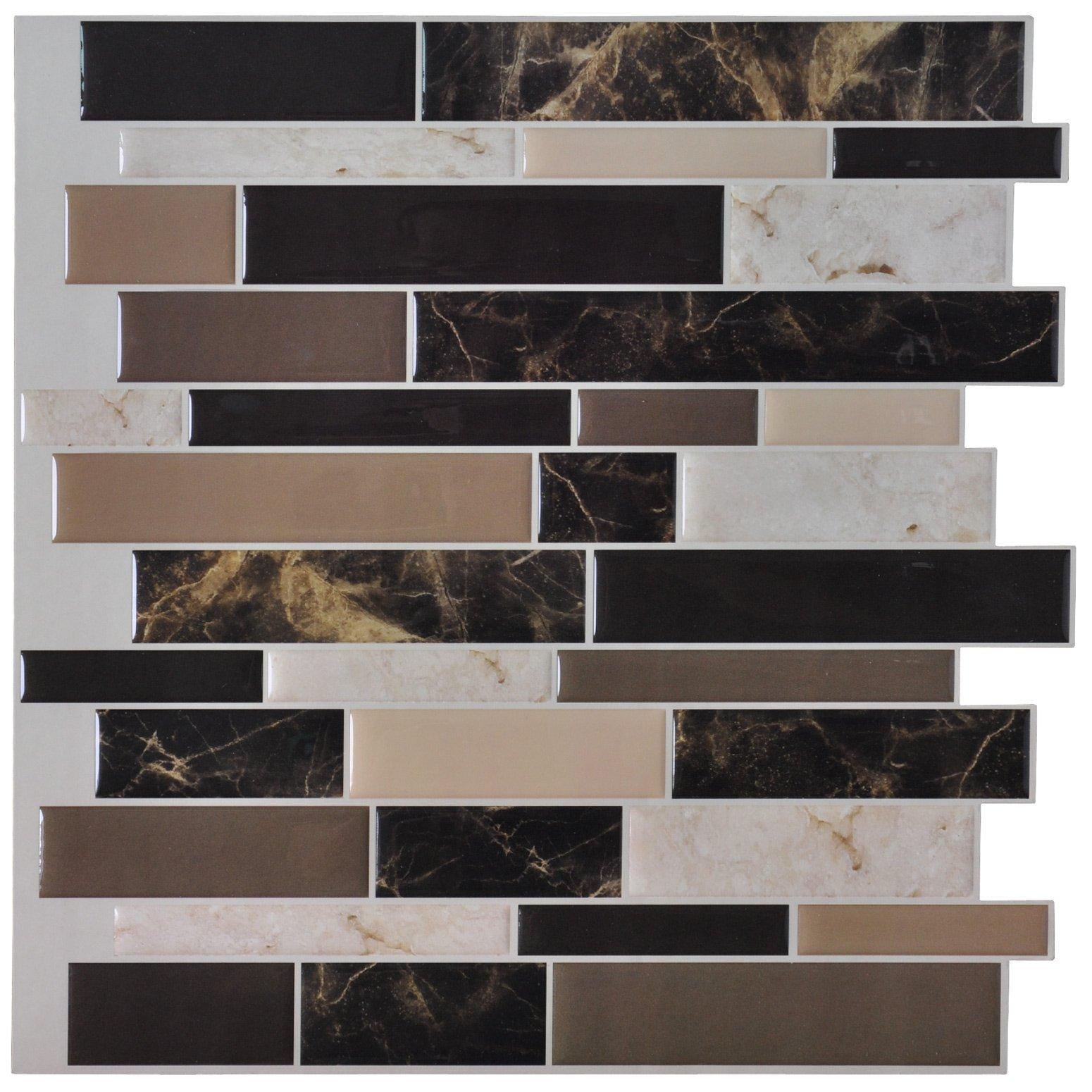 Amazon Com Art3d 6 Pack Peel And Stick Vinyl Sticker Kitchen Backsplash Tiles 12 X 12 Marble Design Home Improvement