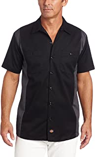 Dickies Men's Big and Tall Short-Sleeve Two-Tone Work Shirt