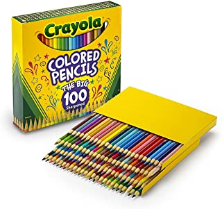 Crayola Colored Pencils Adult Coloring Set, Gift Age 8+ - 100 Count