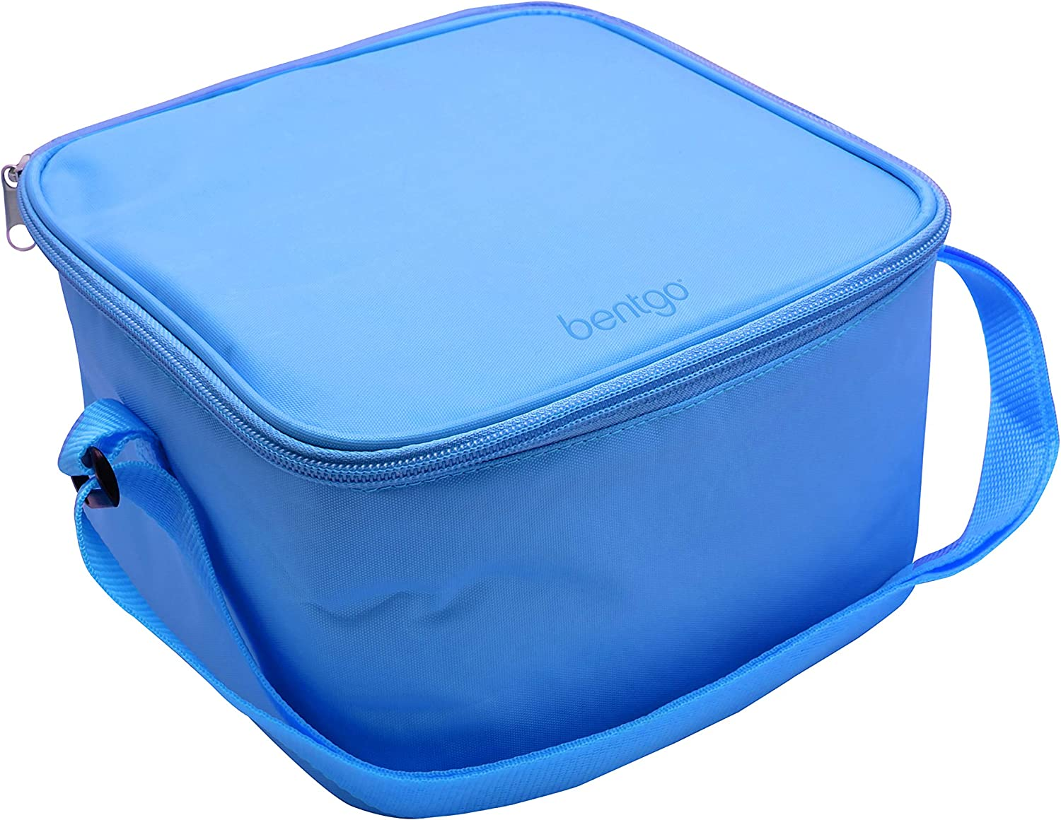 Bentgo Classic Bag (Blue) - Insulated Lunch Bag Keeps Food Cold On the Go - Fits the Bentgo Classic Lunch Box, Bentgo Cup, Bentgo Sauce Dippers and an Ice Pack - Works With Other Food Storage Boxes