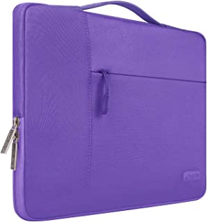 MOSISO Maletín Compatible con 15-15,6 Pulgadas MacBook Pro/Pro Retina/Dell Lenovo HP Acer Asus Chromebook/Ultrabook/Notebook, Poliéster Funda Protectora Multifuncional Bolso, Ultra Violeta