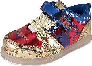 Wonder Woman Girls Motion Lighted Sneakers Toddler/Little Kid Gold