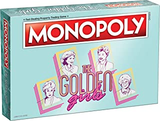 USAOPOLY Monopoly The Golden Girls Board Game | Golden Girls TV Show Themed Game | Officially Licensed Golden Girls Merchandise | Themed Monopoly Board Game