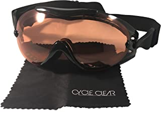 Cycle Clear ZL3 Over Glasses Goggles - See Clearly While You Wear Your Glasses - Amber Lens