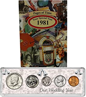 1981 Year Coin Set & Greeting Card : 38th Anniversary Gift - Our Wedding Year