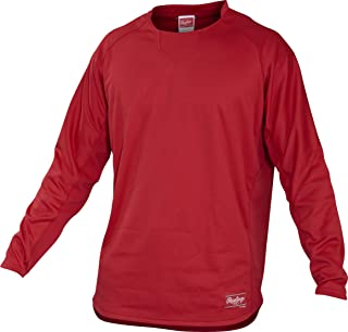 RAWLINGS Youth Dugout Fleece Pullover,  Small,  Scarlet