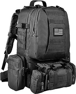 CVLIFE Military Tactical Backpack Built-up Army Rucksack Survival Assault Black