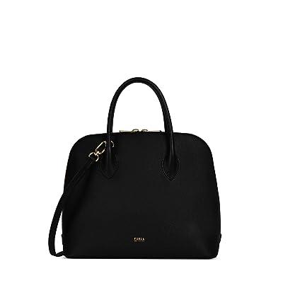 Furla Code Medium Dome (Nero) Handbags