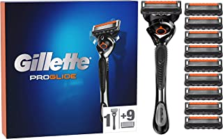 Gillette ProGlide Men's Razor with Flexiball Technology + 10 Refill Blades with 5 Anti-Friction Blades