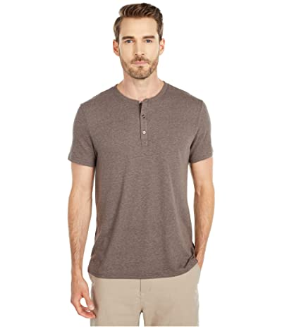 Threads 4 Thought Baseline Short Sleeve Tri-Blend Henley (Cobblestone) Men