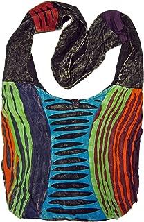 Chronic Color Razor Cut Bohemian Crossbody Bag Boho Purse
