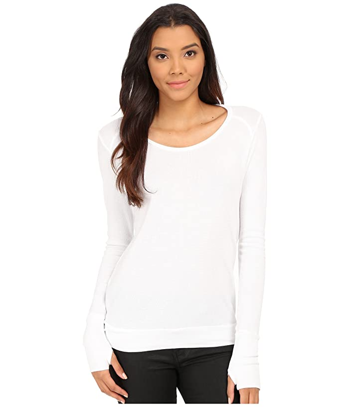 LAmade Thermal Top With Thumbholes (White) Women's Sweater
