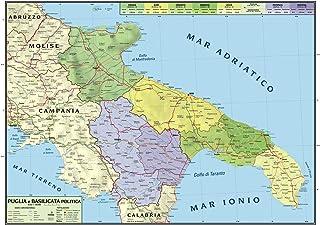Cartina Stradale Puglia Michelin.Amazon It Cartina Della Puglia