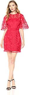 lover the label red lace dress