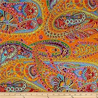 FreeSpirit Fabrics Kaffe Fassett Paisley Jungle Tangerine Fabric By The Yard