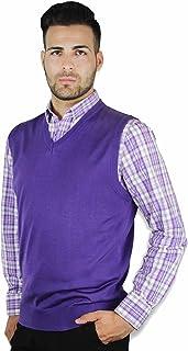 Blue Ocean Solid Color Sweater Vest
