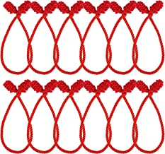 Cooraby 12 Pieces Red Decorative Garland Ties Garland Flexible Ties for Holiday Decorations Christmas Craft Gift Wrapping