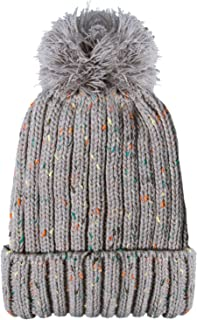 YSense Women Winter Warm Cable Knit Beanie Hats Newsboy Cap Visor with Sequined Flower