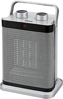 Bomann - Calefactor de cerámica HL 1097CB, interruptor de 7niveles, termostato regulable, (1000/1500W), con función de ventilador