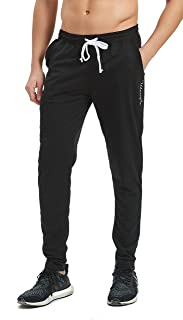 Ubestyle Men's Tapered Athletic Running Training Sweat Track Pants Performance Activewear