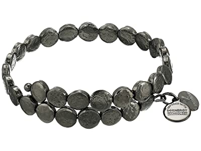 Alex and Ani Coin Wrap (Midnight Silver) Bracelet