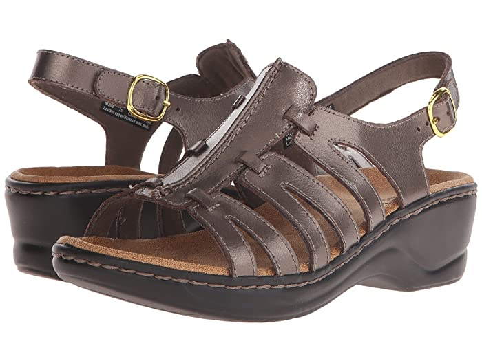 Clarks Lexi Marigold Q (Pewter Leather) Women's Sandals