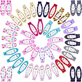 Cridoz 50 Pcs Barrettes Hair Clips, Snap Clips No Slip Wrapped Hair Barrettes for Hair Accessories