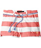 Tommy Hilfiger Kids Rugby Stripe Shorts with Rope Belt (Toddler)