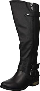 Women's Hansel Knee High Boot, Black Smooth, 5 M US