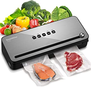 Vacuum Sealer Machine w/Starter Kit, Bonsenkitchen Food Saver Packing Vacuum Sealer for Meal Preparation & Sous Vide Cooki...