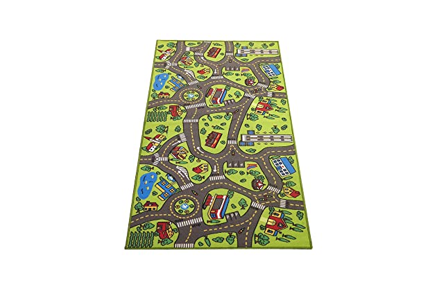 Kids Carpet Playmat Rug City Life -Great For Playing With Cars & Toys - Play Safe Learn Educational & Have Fun -Ideal Gift For Children Baby Bedroom ...