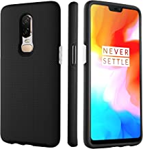 BENTOBEN Phone Case for OnePlus 6, Shockproof Protective Slim Cases, Heavy Duty Dual Layer Hybrid 2 in 1 Hard PC Cover Soft TPU Bumper Phone Cover Case - Black