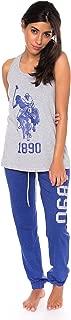 U.S. Polo Assn. Womens 2 Piece Lounge Shirt Elastic Waist...