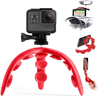 Tenikle 2 RED (Travel) - Flexible Tripod with Suction Cups Compatible with iPhone & Android GoPro Universal Multi-Use Bend...