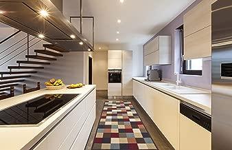 Ottomanson Ottohome Collection Multi-Color Contemporary Checkered Design Modern Area Rug with Non-Skid (Non-Slip) Rubber Backing, 31